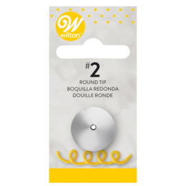 Wilton decorating tip #002 round carded