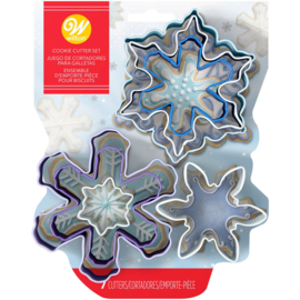 Wilton cookie cutter assorted Snowflake set/7