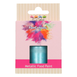 Funcakes funcolours metallic food paint Baby Blue 30 ml