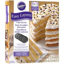 Wilton cake pan easy layer 20 cm set/4