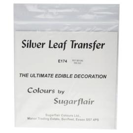 Sugarflair silver leaf transfer