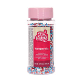 Funcakes musketzaad rood/wit/blauw 80 g