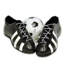 Voetbalschoenen met voetbal
