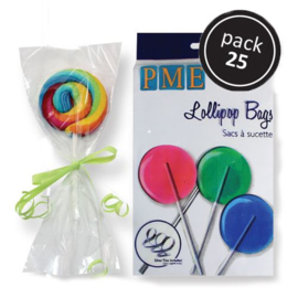 PME lollipop bags with silver ties pk/25