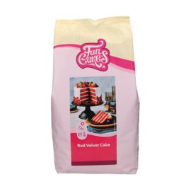 Funcake mix voor Red Velvet Cake 4 kg