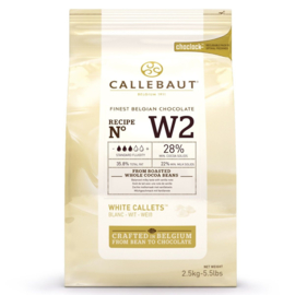 Callebaut Chocolade Callets Wit 2,5 kg