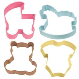 Wilton cookie cutter Baby Theme set/4