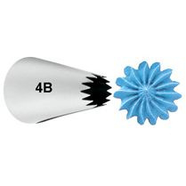 Wilton decorating tip #4B open star carded