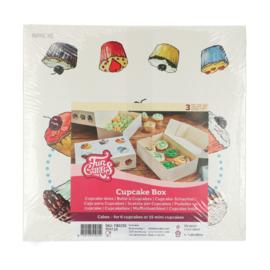 Funcakes cupcake doos voor 6 cupcakes Cakes pk/3