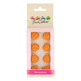 Funcakes fondant decoratie pompoen set/8