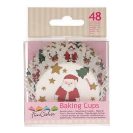 Funcakes baking cups christmas pk/48