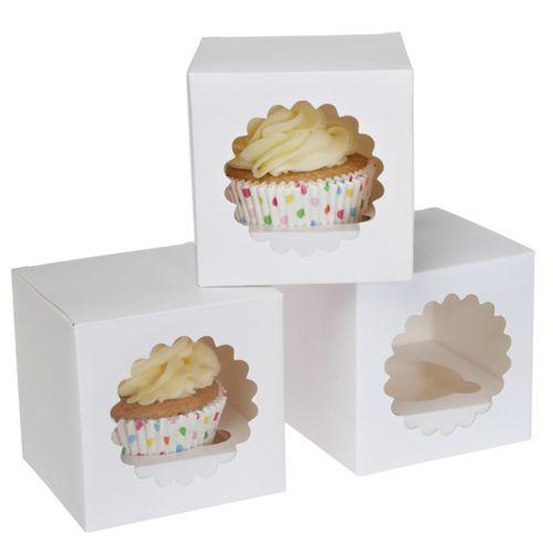 House of Marie cupcake box 1 White (per stuk)