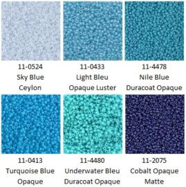 Miyuki assortiment MR11/0 Blue-1 (6 x 5 gram)