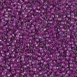 Miyuki delica 11/0 DB0281 Fuchsia Lined Luster Crystal ( 5 gram)