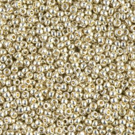 Miyuki rocailles 11/0 4201 Silver Duracoat Galvanized (10 gram)