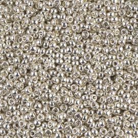 Miyuki rocailles 11/0 1051 Galvanized Silver (10 gram)