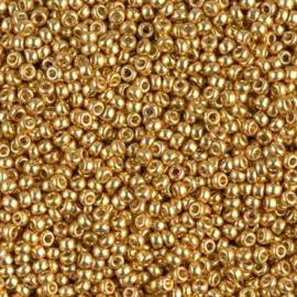 Miyuki rocailles 11/0 4202 Gold Duracoat Galvanized (10 gram)