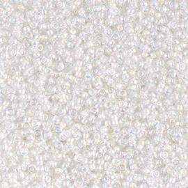 Miyuki rocailles 11/0 0284 White Lined Crystal AB (10 gram)