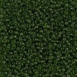 Miyuki rocailles 11/0 0158  Transparent  Olive (10 gram)
