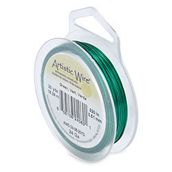 Artistic Wire 24 gauge Green (20 yard)