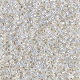 Miyuki rocailles 11/0 0551 White Opal Gilt Lined (10 gram)