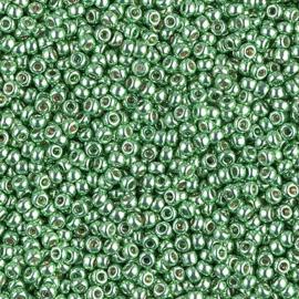 Miyuki rocailles 11/0 4214 Dark Mint Green Duracoat Galvanized (10 gram)