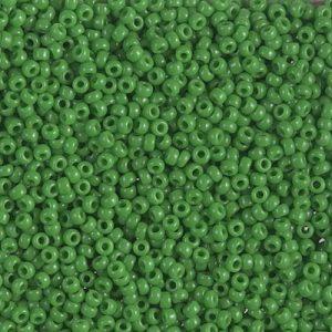 Miyuki rocailles 11/0 0411 Jade Green Opaque (10 gram)
