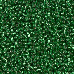 Miyuki rocailles 11/0 0016 Green Silver Lined (10 gram)