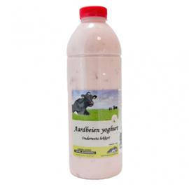 Volle aardbeien yoghurt