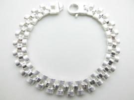 Zilveren roleks bracelet.