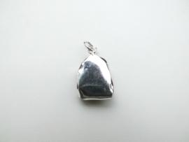 Zilveren agaat steen hanger.