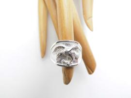 Zilveren adelaar ring.