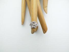 Zilveren baby mattenklopper ring (klein)