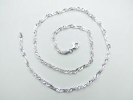 Zilveren singapore ketting (dik)