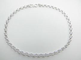 Zilveren lontai enkelband.