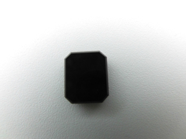 Losse zwarte steen (achthoek)