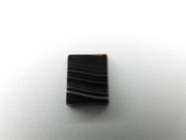 Losse zwart/witte steen (rechthoek) (kromantie)