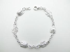 Zilveren indiaan - mattenkloppers bracelet.