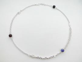 Zilveren allakondre ketting. (65 cm)