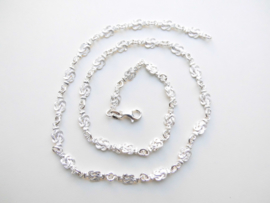Zilveren baby/kind mattenklopper ketting. (dun)