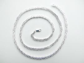 Zilveren koningsketting. (middel) (70 cm)