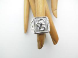 Zilveren cobra ring.