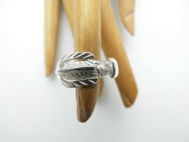 Zilveren gesp ring.