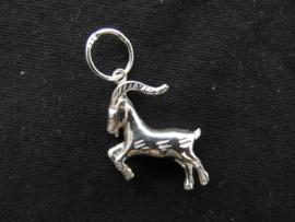 Zilveren sterrenbeeld steenbok hanger.