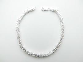 Zilveren konings bracelet (fijner)