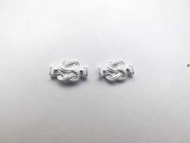 Zilveren mattenklopper oorknoppen (klein)