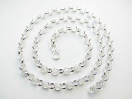Zilveren lontai ketting (50 cm) (dik)