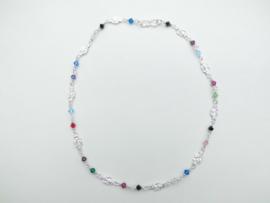 Zilveren baby mattenkloppers/allakondre setje. (ketting + bracelet)