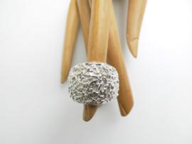 Zilveren piet-piet ring.