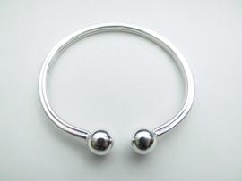 Zilveren boei armband. (octa scheen)